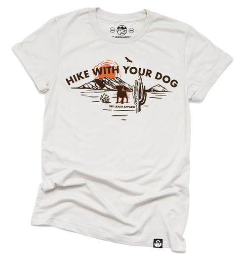 Hike With Your Dog Tee (Heather Dust)