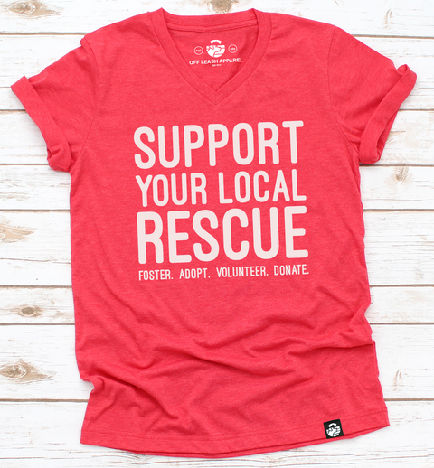 Support Your Local Rescue Tee (Red)
