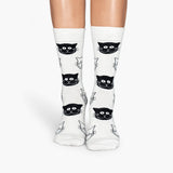 4pairs New 2017 harajuku cotton women socks cat face