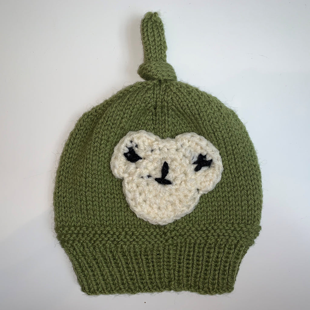 Green Knitted Child Hat