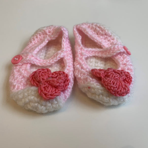 Pink Knitted Baby Shoes