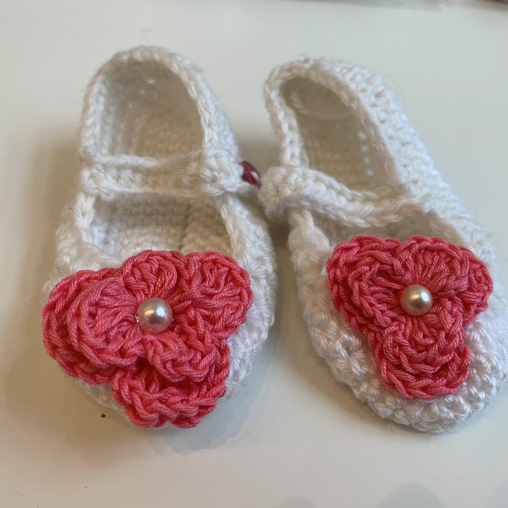 White Knitted Baby Shoes