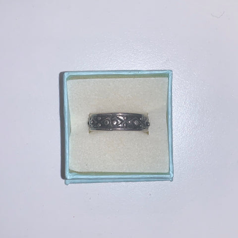 Sterling Silver Band Ring Size 9