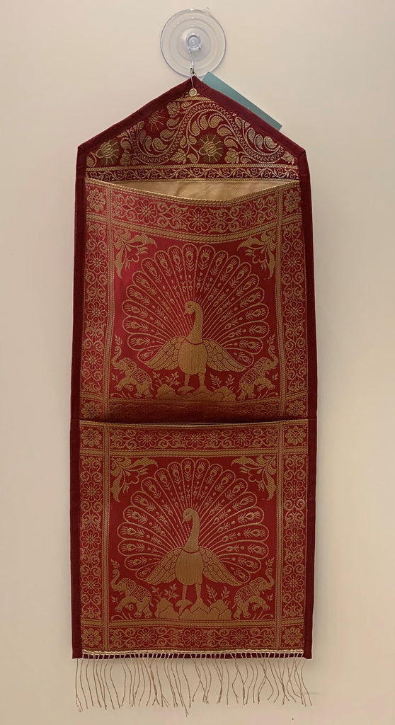 Large Red Silk Organizer
