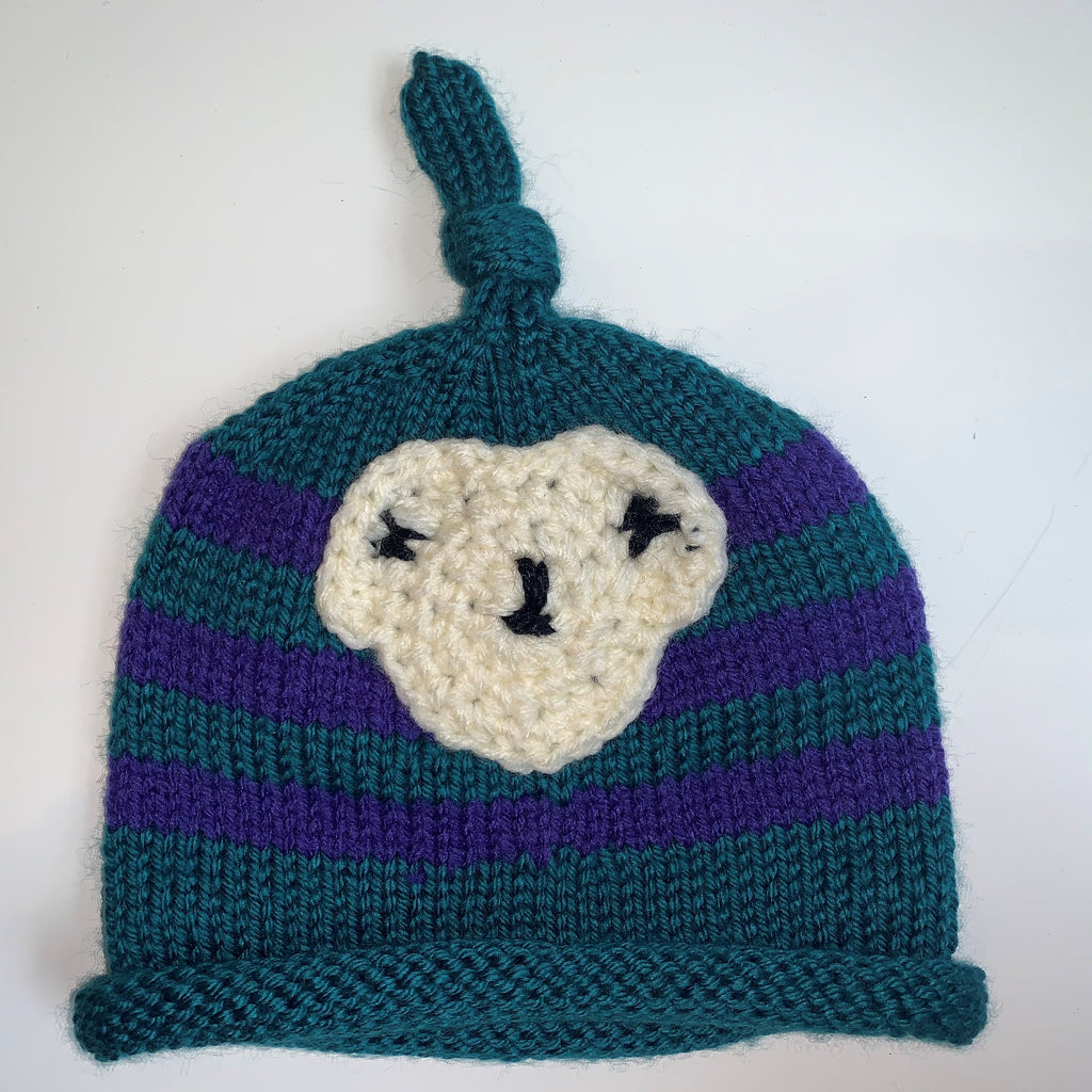 Blue & Teal Knitted Child Hat