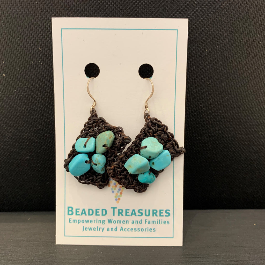 Turquoise Woven Dangles