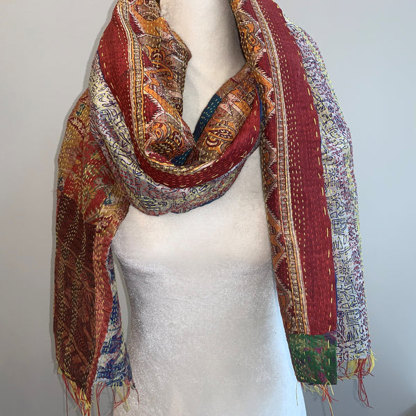 Absolute Kantha Silk Scarf