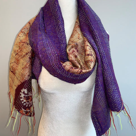 Attribute Kantha Silk Scarf
