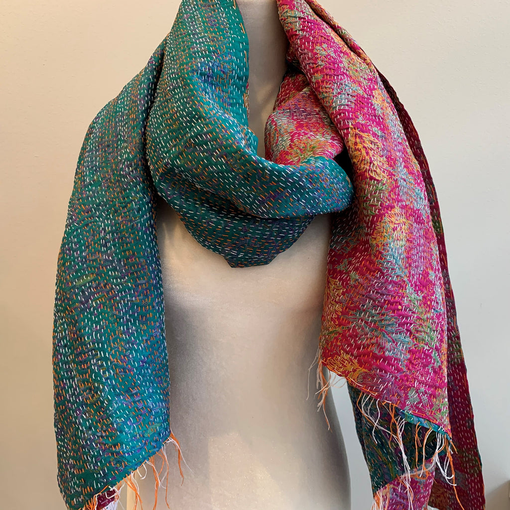 Commitment Kantha Silk Stole