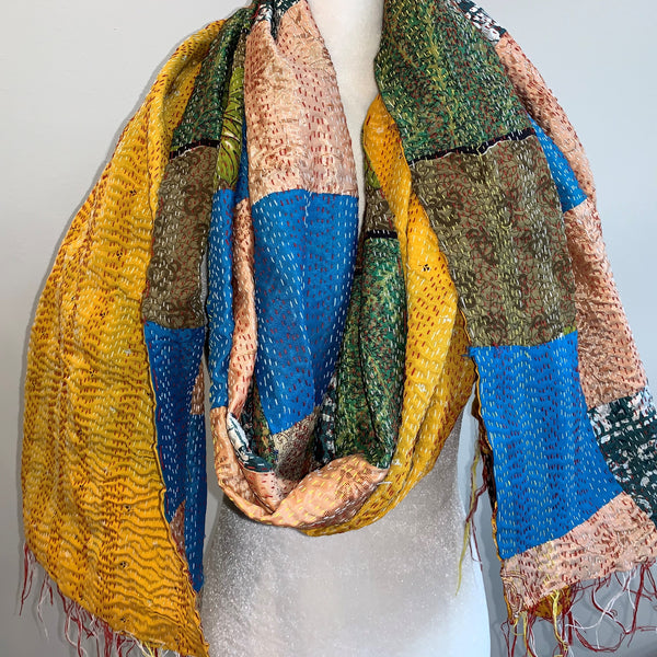 Envision Kantha Silk Stole