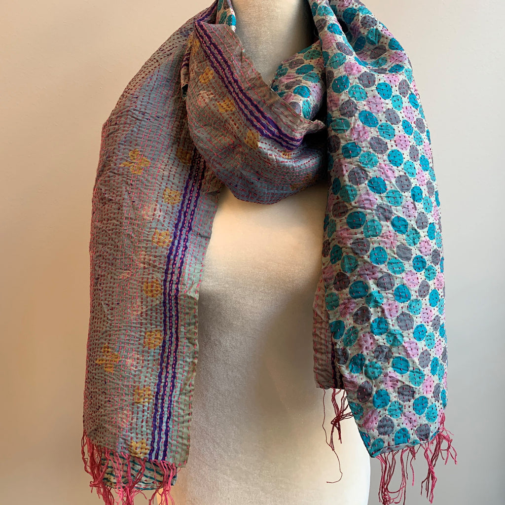 Innovative Kantha Silk Scarf