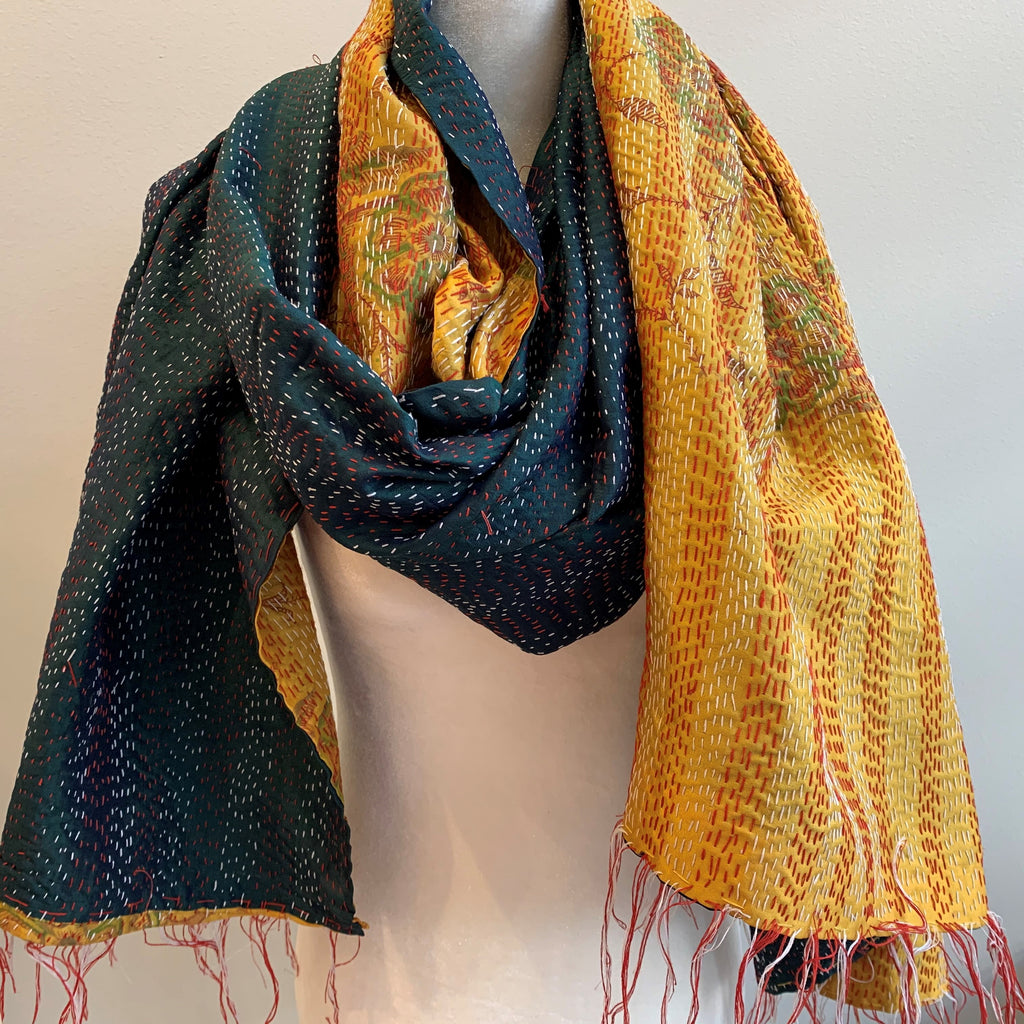 Knowledge Kantha Silk Stole