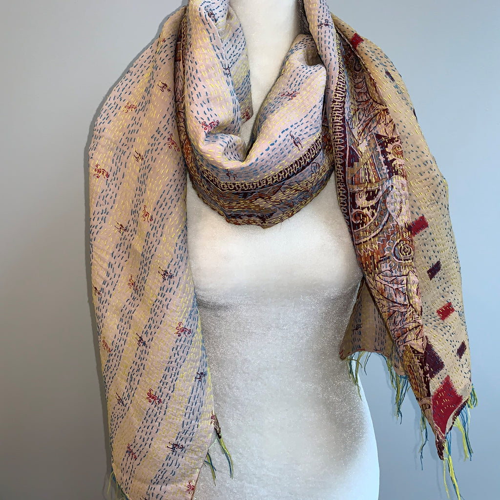 Progress Kantha Silk Scarf