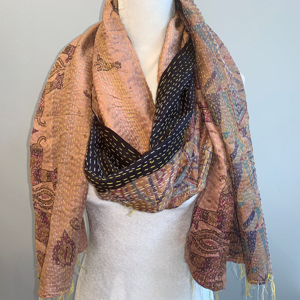 Tolerance Kantha Silk Scarf