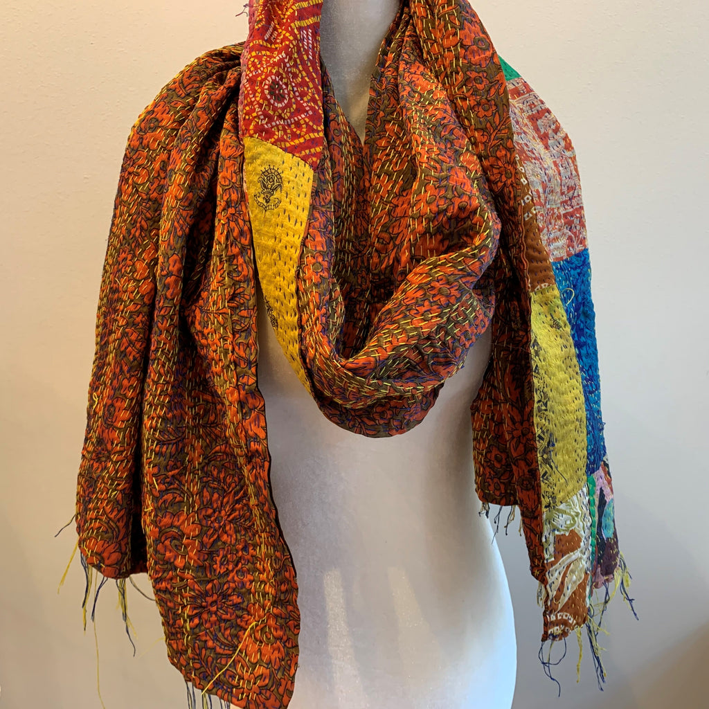 Unconditional Kantha Silk Stole