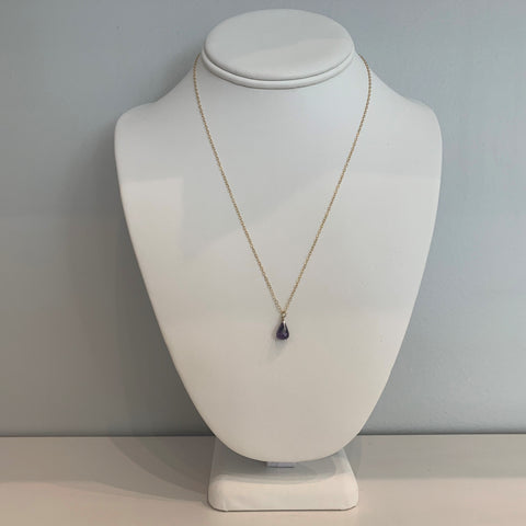 Swarovski Crystal Purple Small Teardrop Necklace