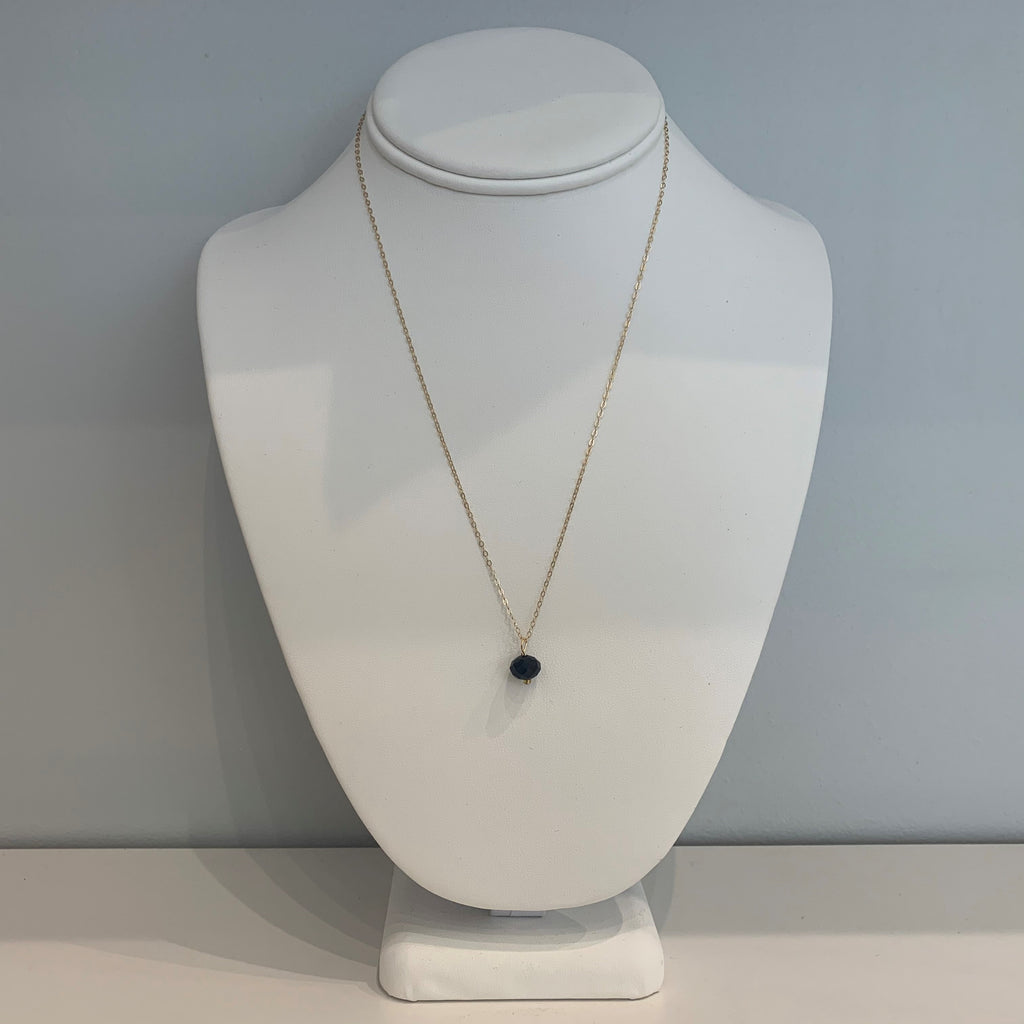 Swarovski Crystal Black Oval Necklace