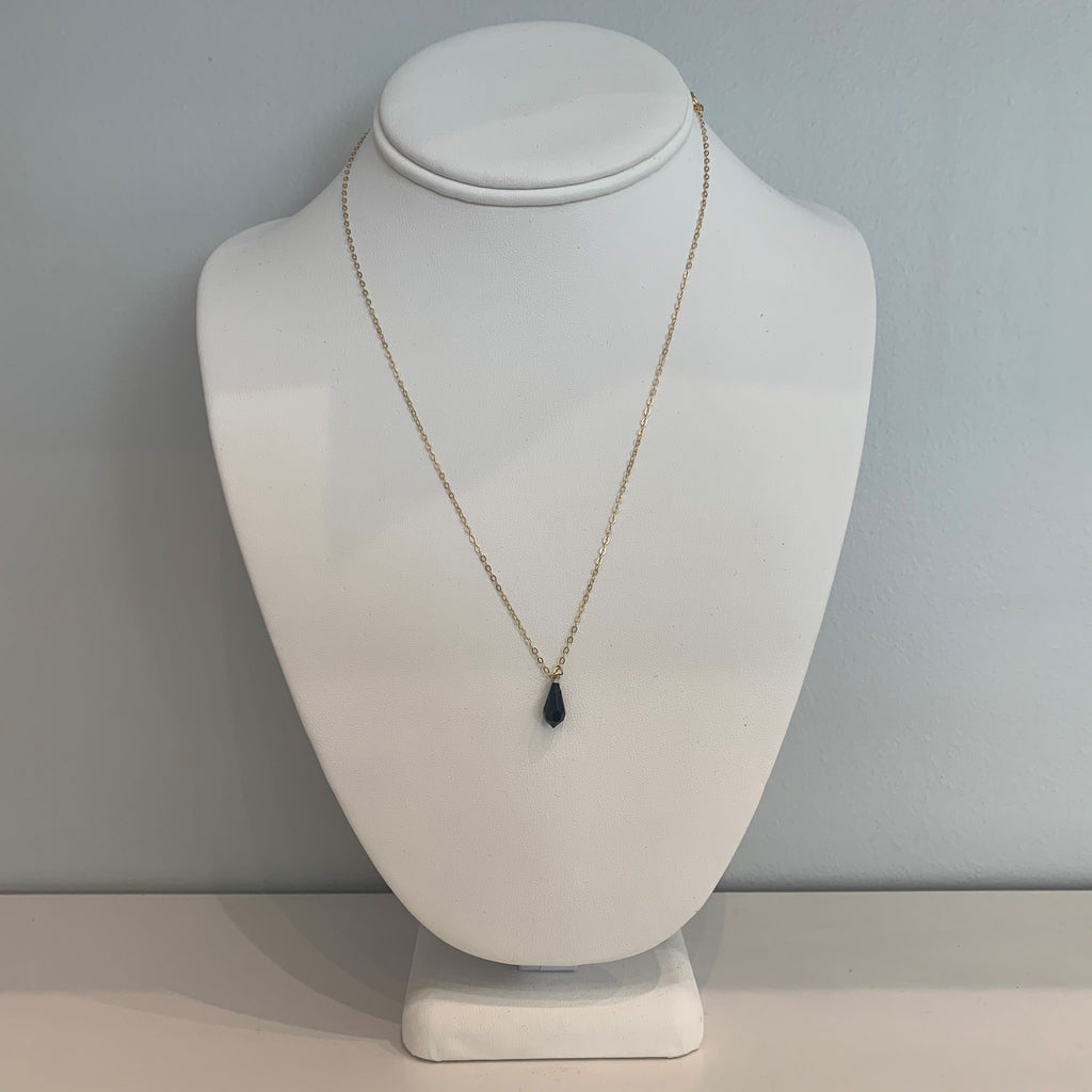 Swarovski Crystal Black Small Teardrop Necklace