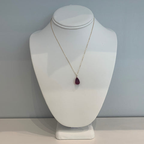 Swarovski Crystal Red Large Teardrop Necklace