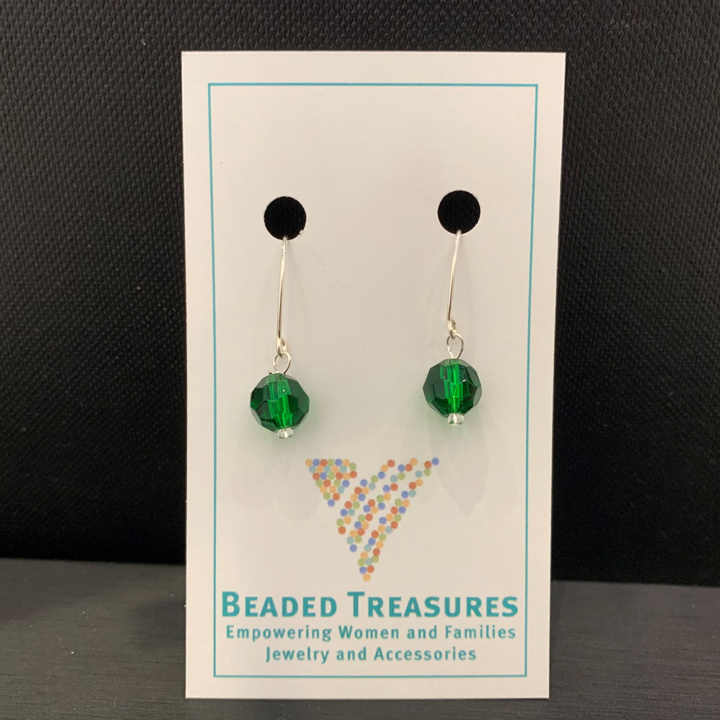Swarovski Crystal Green Spheres