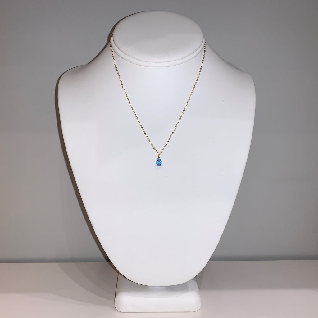 Swarovski Crystal Light Blue Small Pendant Necklace