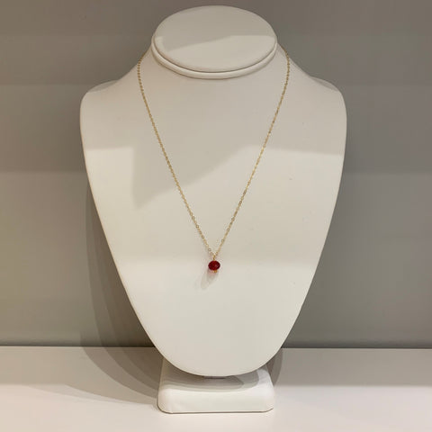 Swarovski Crystal Red Oval Pendant