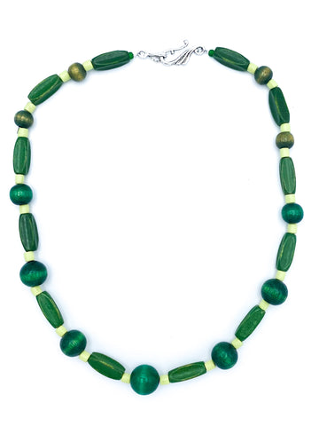 Green Wood Necklace