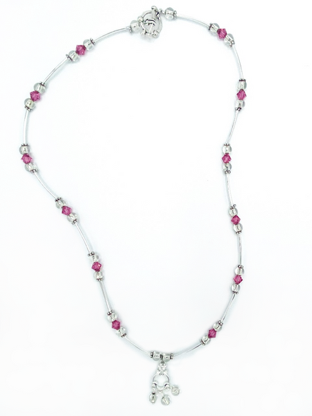 Pink and Silver necklace