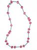 Pink necklace with heart hook