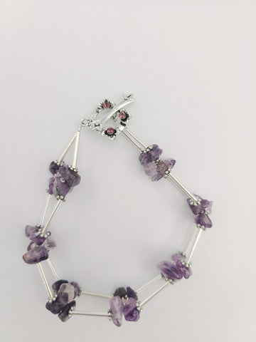 Purple Chip Bracelet