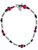 Red Necklace, Bracelet and Earrings Set