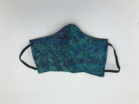 Teal Blue Face Mask with Elastic Ear Holders
