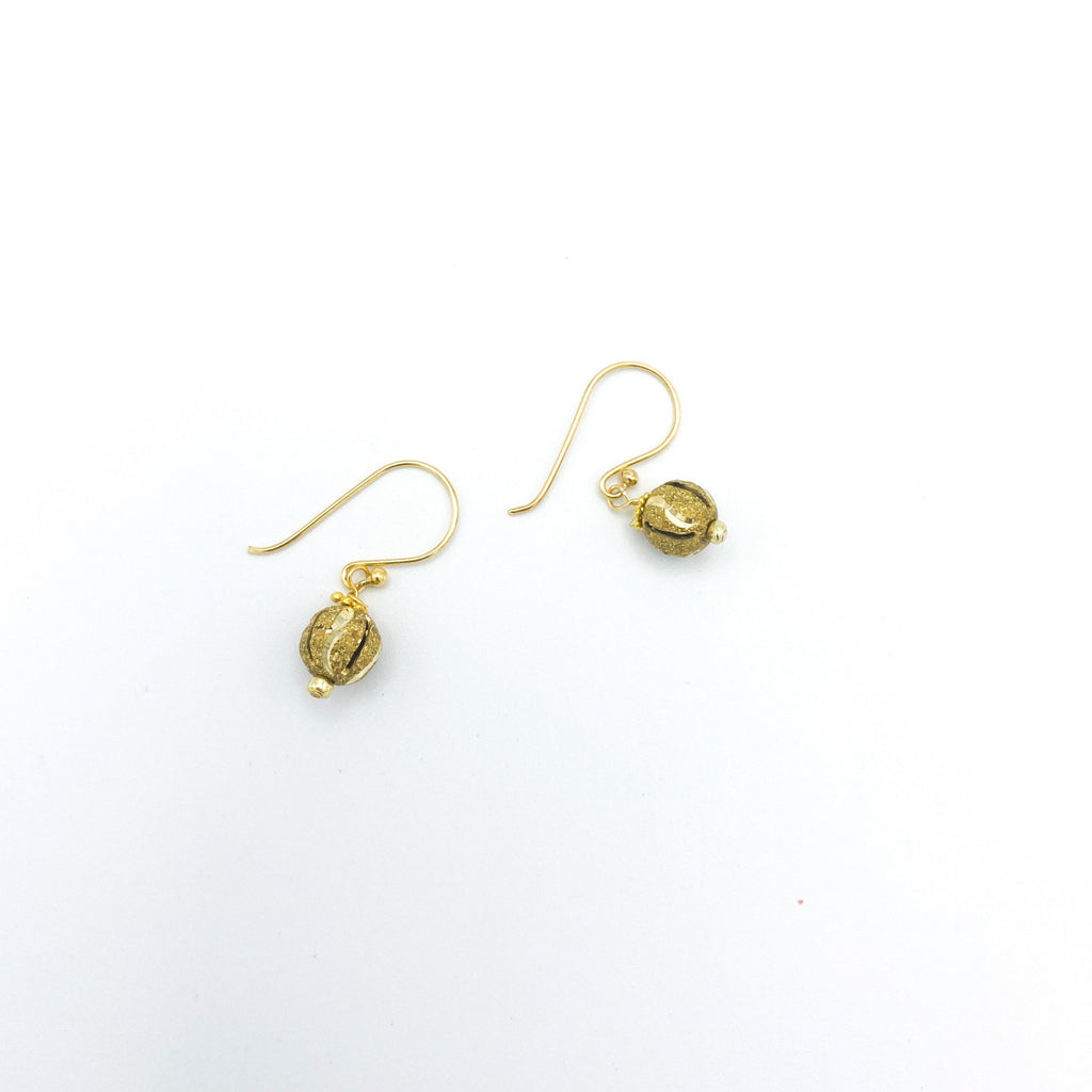Gold Textured Meena Small Balls