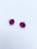 Round Fuchsia Earrings