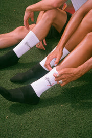 Kwaleö White & Black Cushioned Socks