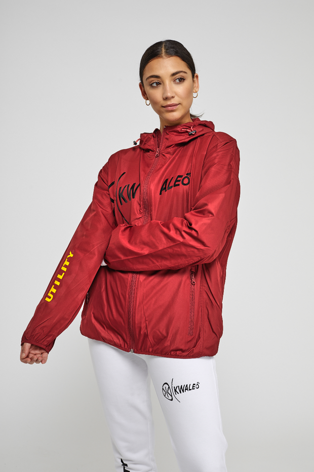 Kwaleö Utility Unisex Red Windbreaker