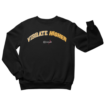 Vibrate higher black sweatshirt