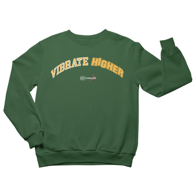 Vibrate higher green sweatshirt