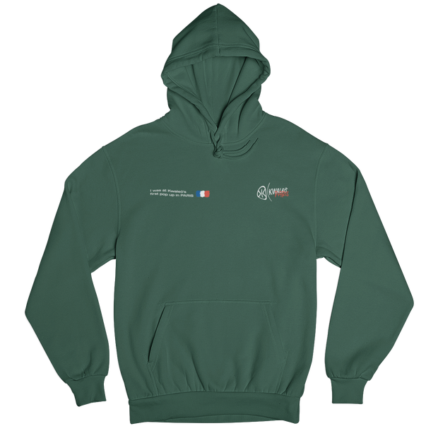 Paris Pop Up Green Hoodie