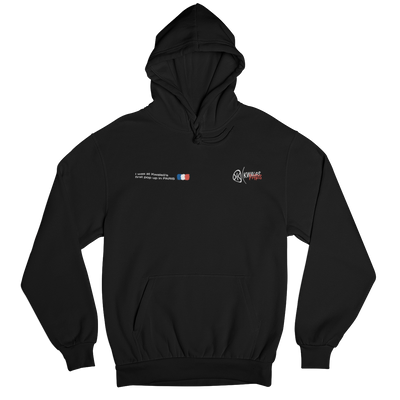 Paris Pop Up Black Hoodie