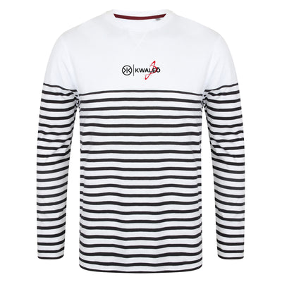 Kwaleö Sailor White Navy Long-sleeves T-shirt