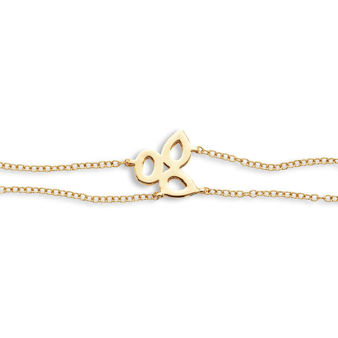 18k Gold Triple Chain Bracelet