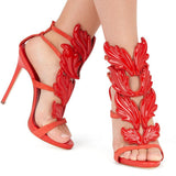 Leafy Love Sandals Red