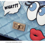 Graffiti Red Lips Handbag