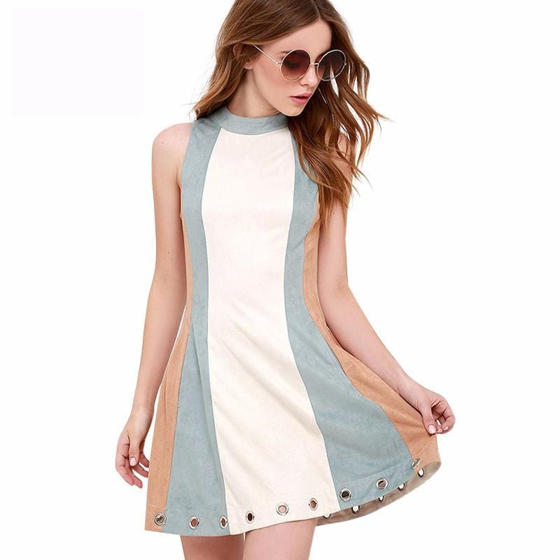 High Collar Summer Dress