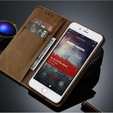 Luxury Flip Leather Wallet iPhone Case