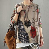 Fashion Printing Loose Sweaters Pullovers