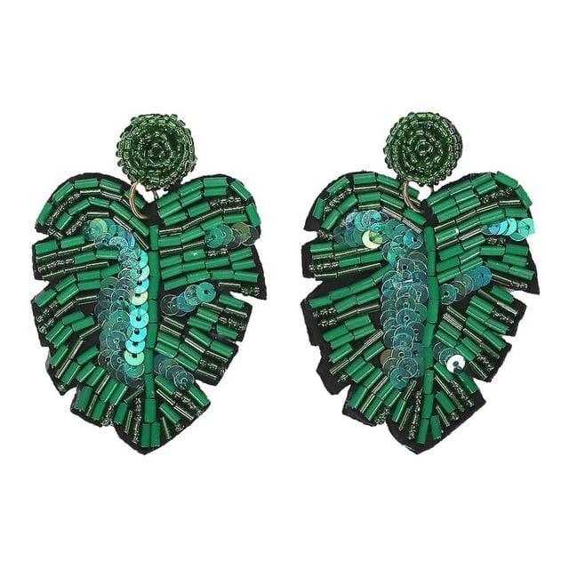 Crystal Resin Trendy Green Statement Pendant Drop Earring