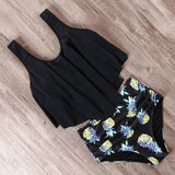 Cute Ruffle Two Piece Bikini Swimsuit