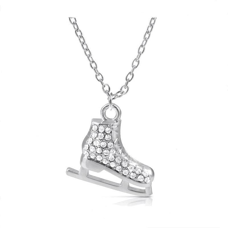 Silver Plated 3D Ice Skates Pendant